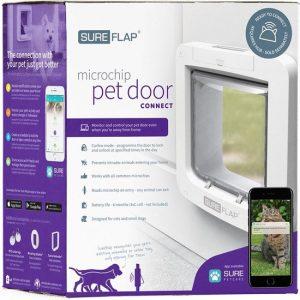 Sureflap Microchip Huisdierluik Connect - Kattenluik - Wit