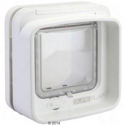 SureFlap DualScan Microchip Kattenluik – Adapter voor montage in glas wit
